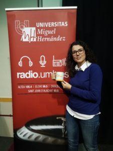 María José Moya en el  IES José Marhuenda Prats